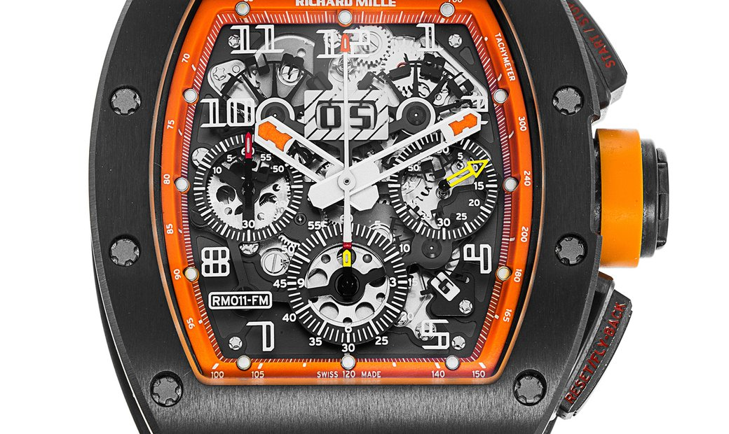 Richard Mille [LIKE NEW][LIMITED 30 PIECE] RM 011 AJ TI ORANGE STORM