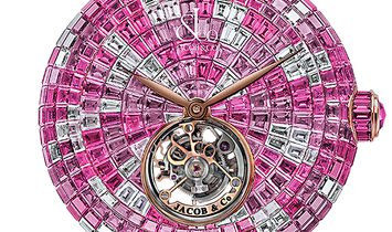 Jacob & Co. 捷克豹 [NEW] Brilliant Flying Tourbillon Pink Camouflage BT543.30.CP.CP.B
