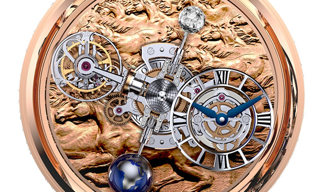 Jacob & Co. 捷克豹 [NEW] Astronomia Stallion Rose Gold Tourbillon AT100.40.HA.UA.A