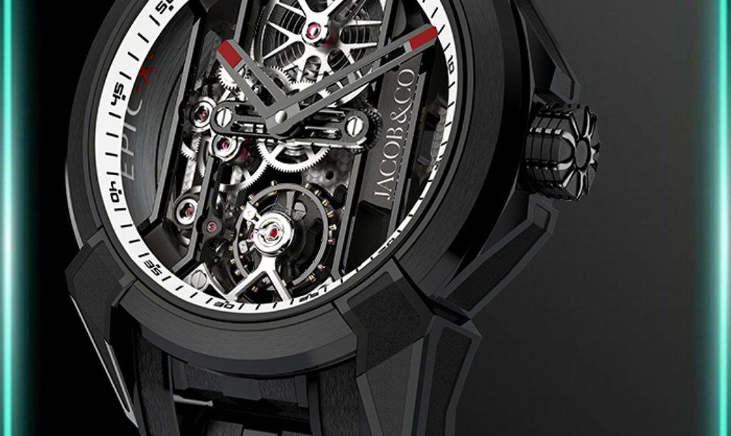 Jacob & Co. 捷克豹 [NEW] Epic X Black Titanium Bracelet EX100.21.PS.WB.A21AA (Retail:HK$181,400)