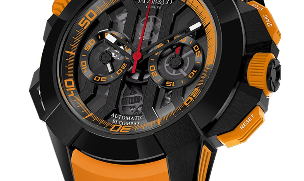 Jacob & Co. 捷克豹 [NEW] Epic X Chrono Titanium Orange EC313.21.SB.BO.E (Retail: HK$211,200)