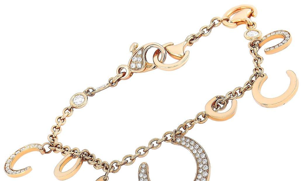 Ubaldi Ubaldi 18K Rose Gold 1.00 ct Diamond Horseshoe Bracelet
