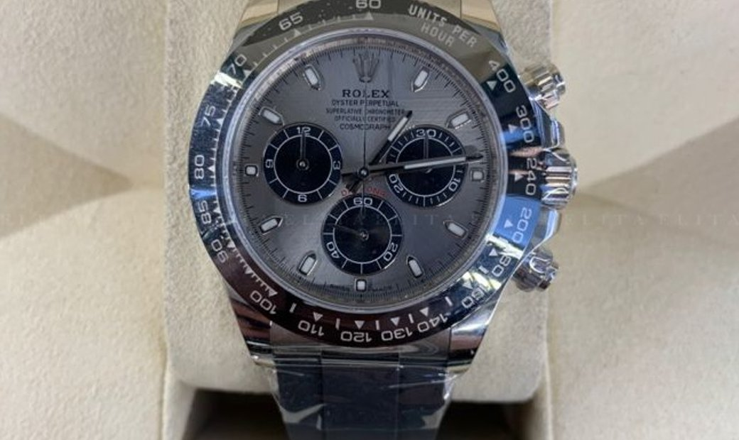 Rolex Daytona 116519LN-0027 Cosmograph 18 Ct White Gold Steel and Black Dial