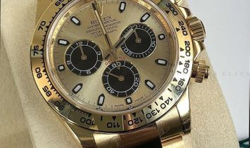 Rolex Daytona Cosmograph 116508-0014 18 Ct Yellow Gold Champagne and Black Dial