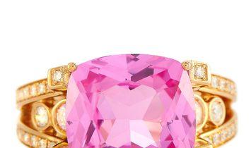 Ubaldi Ubaldi 18K Rose Gold 0.60 ct Diamond and Zircon Ring