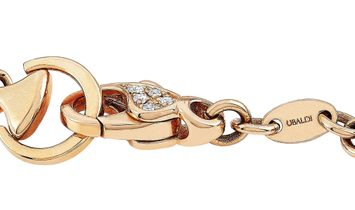 Ubaldi Ubaldi 18K Rose and White Gold 0.70 ct Diamond Horsebit Bracelet