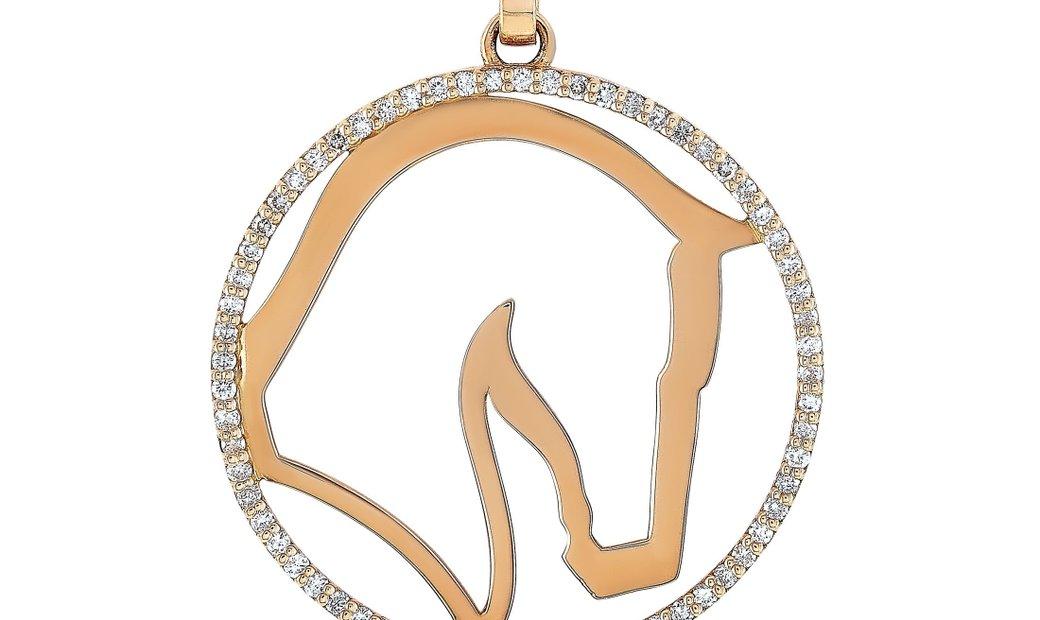 Ubaldi Ubaldi 18K Rose Gold 0.60 ct Diamond Pendant Necklace