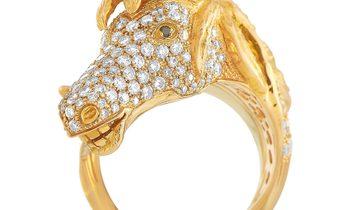 Ubaldi Ubaldi 18K Rose Gold 2.20 ct Diamond Horse Sculpture Ring