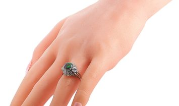 LB Exclusive LB Exclusive Platinum 0.95 ct Diamond and Opal Ring