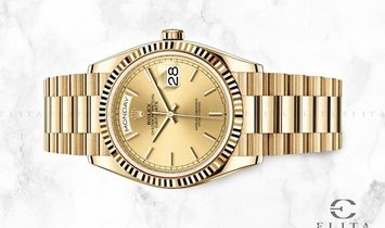 Rolex Day-Date 36 128238-0045 18 Ct Yellow Gold Champagne-Colour Dial