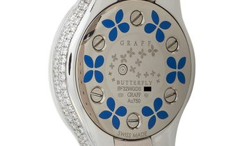 Graff  Graff Butterfly White Gold Diamond and Blue Sapphire Watch BF32WGDS