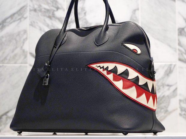 Hermes Bolide Runway Shark Bag, Limited Edition in Blue I... (10973293)