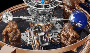 Jacob & Co. 捷克豹 [NEW] Astronomia 3 Monkeys Tourbillon AT102.40.AB.UA.A (Retail:HK$5,104,000)