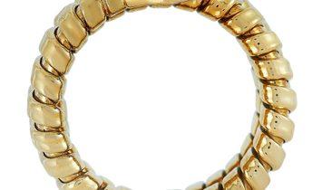 Bvlgari Bvlgari Tubogas Serpenti 18K Yellow Gold Citrine Ring