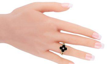 Van Cleef & Arpels Van Cleef & Arpels Vintage Alhambra 18K Yellow Gold Diamond and Onyx Ring