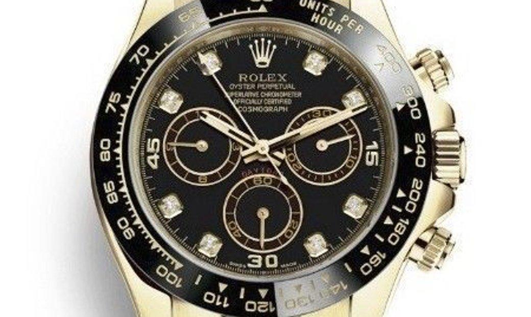 Rolex Daytona Cosmograph 116518LN-0046 Yellow Rolesor Black Diamond Set Dial