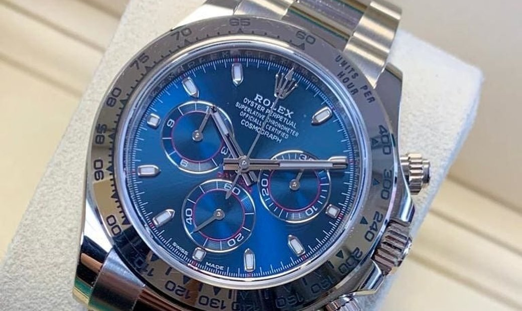 Rolex Daytona Cosmograph 116509-0071 18 Ct White Gold Blue Dial