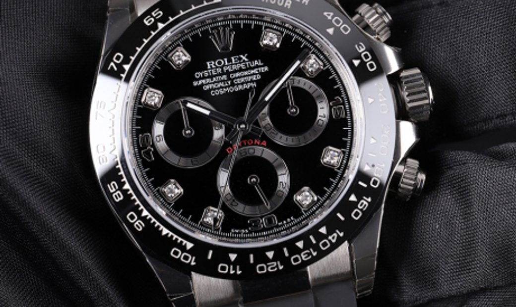 Rolex Daytona Cosmograph 116519GLN-0025 18 ct White Gold Black Diamond Set Dial