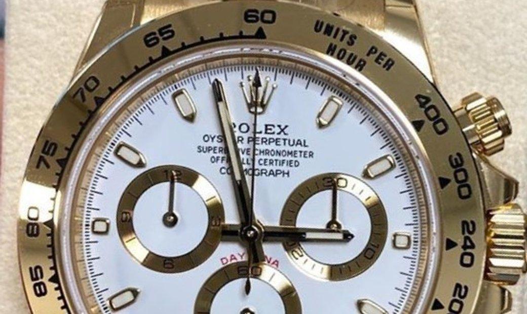 Rolex Daytona Cosmograph 116508-0001 18 CT Yellow Gold White Dial