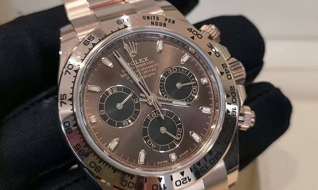 Rolex Daytona Cosmograph 116505-0013 18 Ct Everose Gold Chocolate and Black Dial
