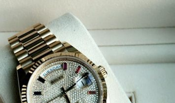 Rolex Day-Date 36 128238-0051 18 Ct Yellow Gold Diamond Paved Dial