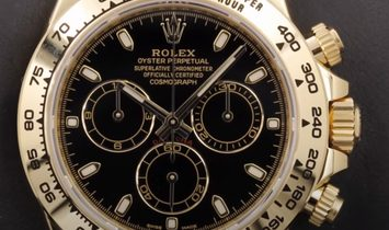 Rolex Daytona Cosmograph 116508-0004 18 Ct Yellow Gold Black Dial