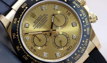 Rolex Daytona Cosmograph 116518LN-0044 18 Ct Yellow Gold and Diamond Set Champagne Coloured Dial