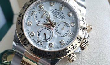 Rolex Daytona Cosmograph 116503-0007 Yellow Rolesor Diamond Set White Mother-Of-Pearl Dial