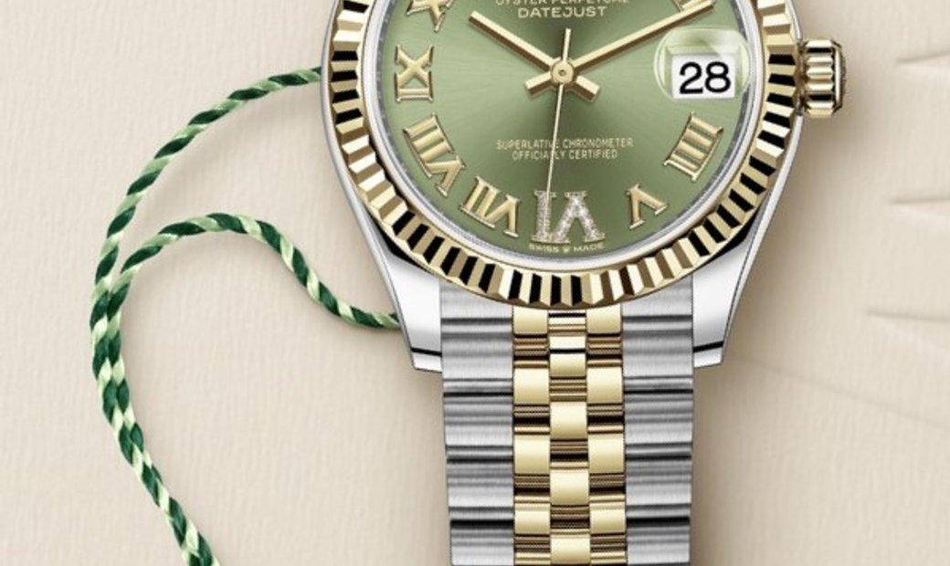 Rolex Datejust 31 278273-0016 Oystersteel and Yellow Gold Olive Green Dial