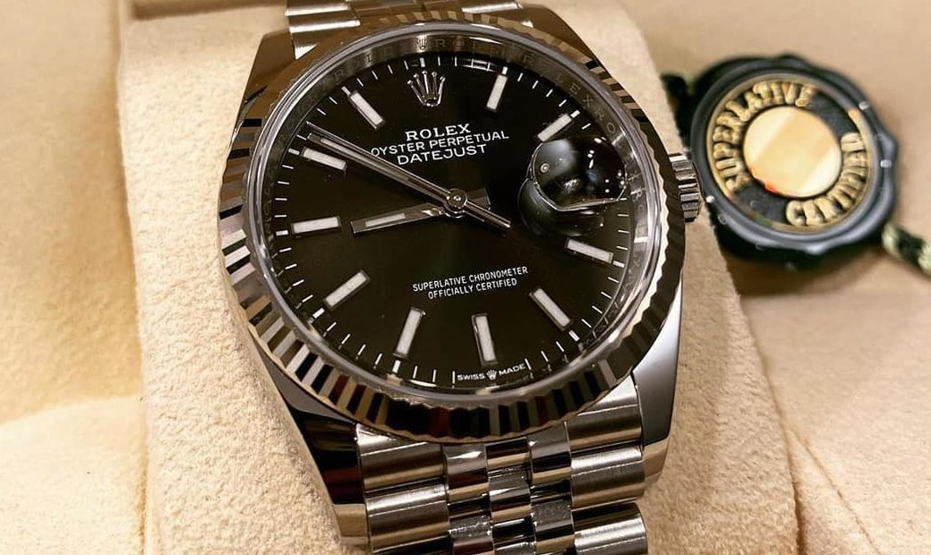 Rolex Datejust 36 126234-0015 White Rolesor Black Dial