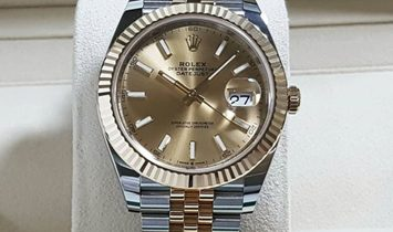 Rolex Datejust 41 126333-0010 Yellow Rolesor Champagne Colour Dial