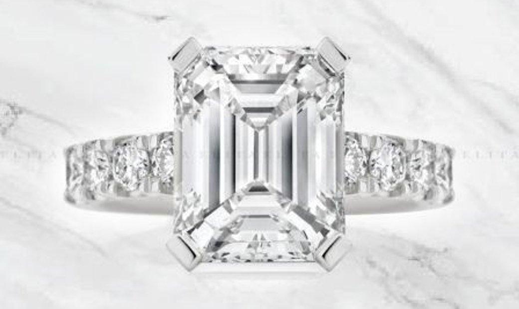 Platinum 5.02ct Diamond Engagement Ring GIA