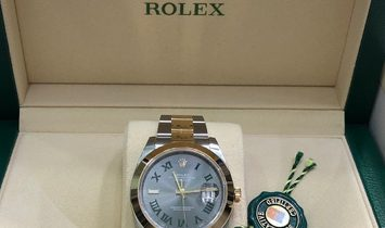 Rolex Datejust 41 126303-0019 Yellow Rolesor Slate Dial