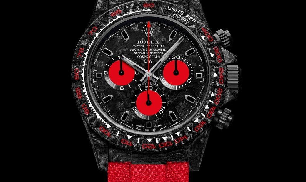 """Rolex DiW NTPT Carbon Daytona """"CARBON RED UNIQUE"""" (Retail:US$56,800)"""