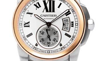 Cartier Calibre de Cartier W7100036, Roman Numerals, 2019, Very Good, Case material Ste