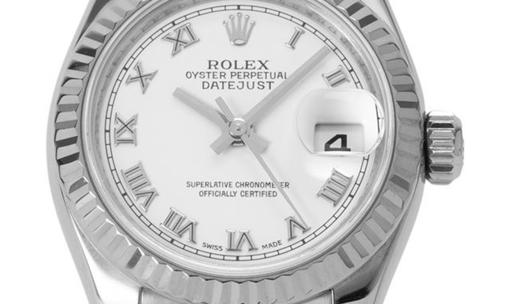 Rolex Lady-Datejust 179174, Roman Numerals, 2009, Very Good, Case material Steel, Brace