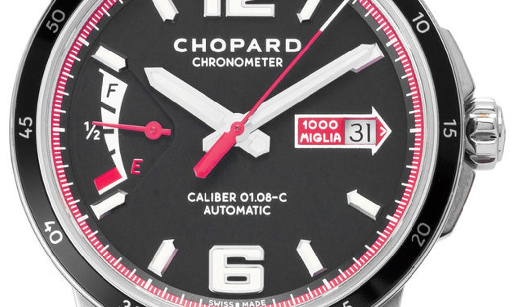 Chopard Mille Miglia 168566-3001, Baton, 2017, Very Good, Case material Steel, Bracelet