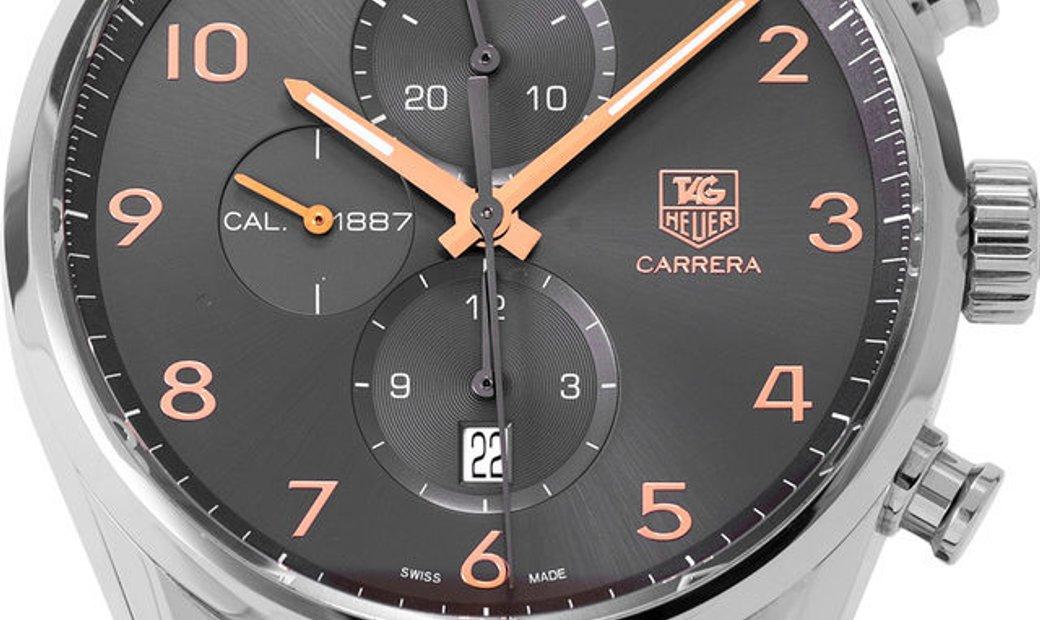 TAG Heuer Carrera CAR2013.FC6313, Arabic Numerals, 2017, Very Good, Case material Steel