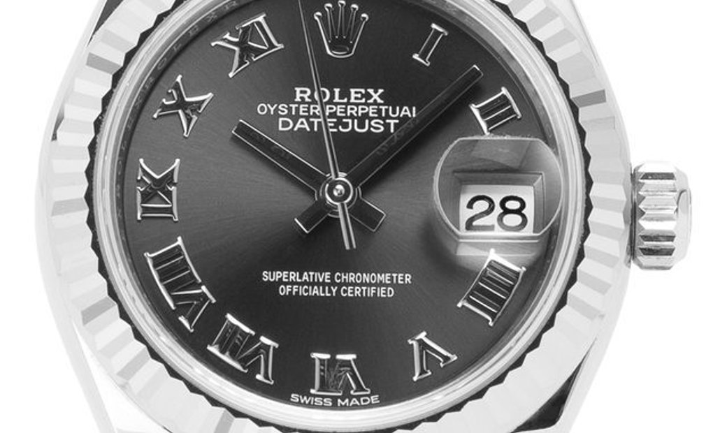 Rolex Lady-Datejust 279174, Roman Numerals, 2018, Very Good, Case material Steel, Brace