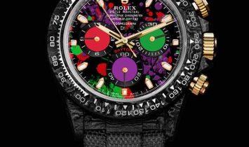 """Rolex DiW NTPT Carbon Daytona """"MOTLEY PURPLE UNIQUE 1"""" (Retail:US$53,990)"""
