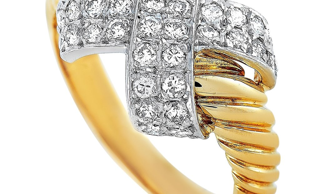 Lanvin Lanvin 18K Yellow and White Gold 0.45 ct Diamond Ring