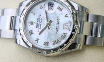 Rolex Datejust 31 178344-0027 White Rolesor and White Mother-Of-Pearl Dial