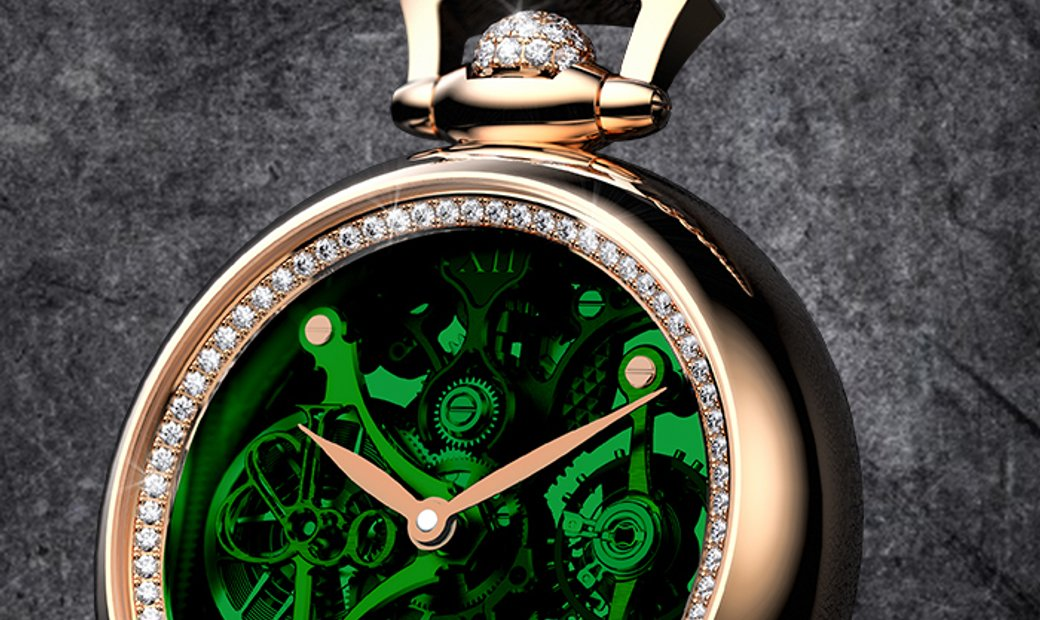 Jacob & Co. 捷克豹 [NEW] Brilliant Pocket Watch Pendant Green BS200.40.RD.QG.A (Retail:HK$658,700)
