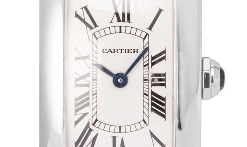 Cartier Tank Americaine 1713, Roman Numerals, 1998, Very Good, Case material White Gold