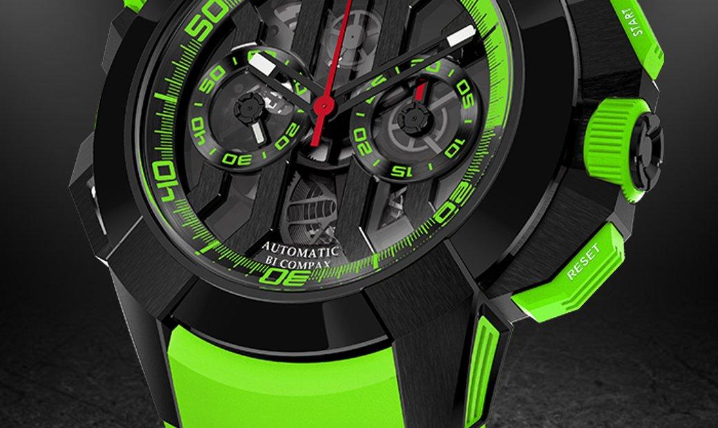 Jacob & Co. 捷克豹 [NEW] EPIC-X Chrono Green EC313.21.SB.BG.C (Retail:HK$260,000)