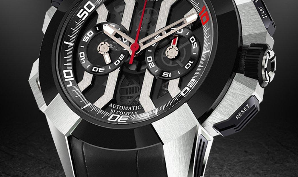 JACOB & CO. 捷克豹 [NEW] EPIC-X CHRONO LUIS FIGO EC311.20.SD.BF.A (Retail:HK$276,900)