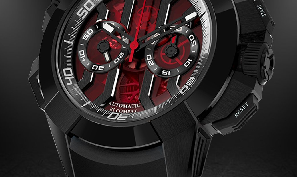Jacob & Co. 捷克豹 [NEW] Epic X Chrono Black Titanium EC311.21.SB.RB.A (Retail:HK$211,200)