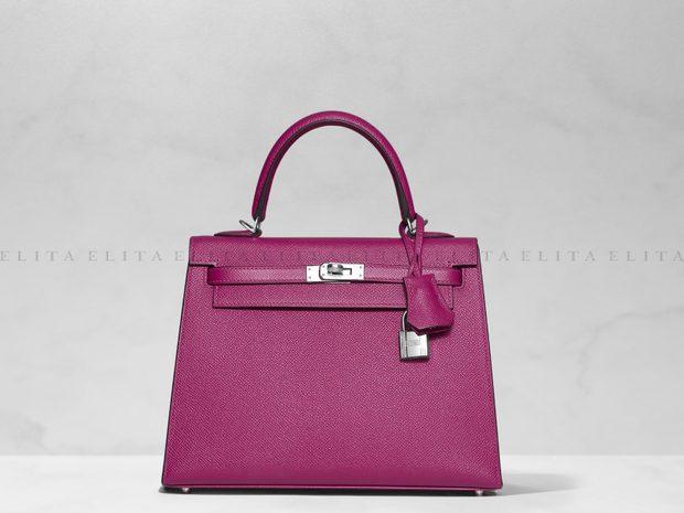 Hermes Kelly 25 Rose Pourpre Epsom Leather (11031189)