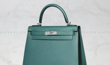 Hermes Kelly 28 Malachite Epsom Leather