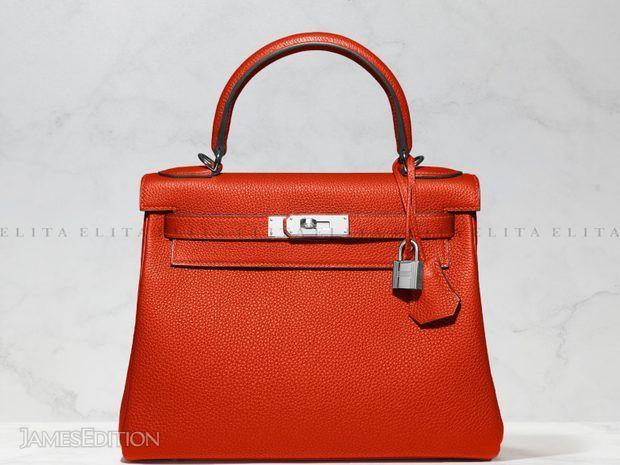 Hermes Kelly 28 Rouge Casaque Togo Leather (11032495)